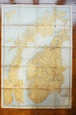 More details for 1938 norway norge state railway map