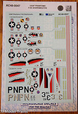 Microscale Decal #AC48-0047 (Decals for: USAF Phantoms F-4E Sharkmouths