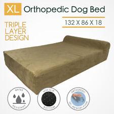 XL Memory Foam Orthopedic Dog Bed Mattress Bolster 3 Layers Extra Large Big