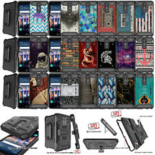 For ZTE Blade Z MAX, ZMax Pro 2, Shock Heavy Duty Combo Holster Case Clip Stand