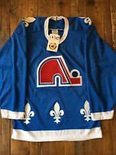 Quebec Nordiques - Vintage Blue Away Jersey - OG CCM - New with Tags - Size S