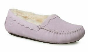 NEW Ugg Uggs SCALLOPED MOC Slippers California Aster Purple Lilac 5 6 EU 36 37