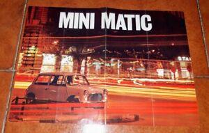 BROCHURE DEPLIANT ADVERTISEMENT INNOCENTI MINI MATIC MINIMATIC 1970 ITALIANO