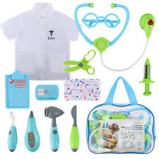 Doctor Nurse Medical Playset Kit Pretend Play Tools Toy Set Gift for Kids Blue