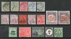 TRINIDAD and TOBAGO RANGE of EARLY STAMPS