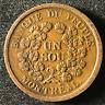 Canada 1838 Half Penny Token Un Sou LC-5A3 / Breton 715 / J-039