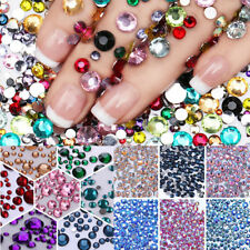 Wholesale 2000Pcs Crystal Flat Back Acrylic Rhinestones Gems Colorful Mixed Size