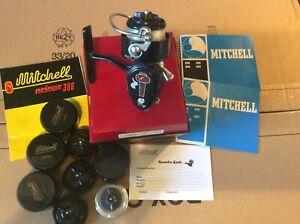 Angeln Angelrollen Mitchell 308 Prince original Rollenbox 4x Ersatzspule