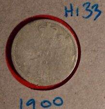 1900 SILVER 10 CENT VICTORIA -  Nice coin book filler - readable date H-133