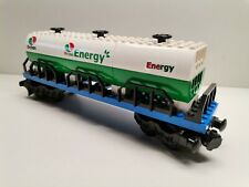 Lego Eisenbahn Octan Tankwaggon MOC hochwertig grün/weiss gebraucht 17/10-7