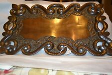 Antique Hand Carved HostessTray Solid Mahogany Exquisitely  Beautiful! #1002118H