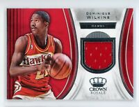 2018-19 Dominique Wilknis Jersey Panini Crown Royale