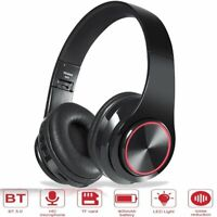 Wireless Bluetooth 5.0 Headphones Foldable Headsets Heavy Bass Noise Cancelling