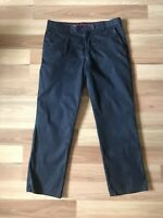 MEYER Roma Stretch Navy Blue Colourfast Soft Lightweight Chino Trousers W36 30L