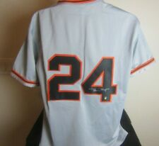 Willie Mays autographed signed New York Giants jersey with Mays Hologram