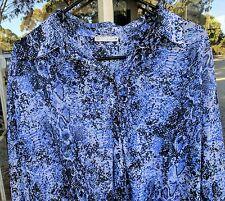 TARGET Navy Blue Animal Snake Print Shirt Top Plus Size 18 XXL 2XL BNWOT Tunic