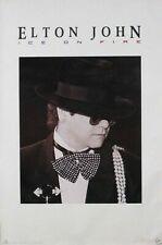 "Elton John ""Ice On Fire"" U.S. Promo Poster - E.J In Hat & Puffy Bow Tie"