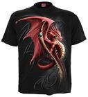SPIRAL DIRECT Wyvern, devant imprimé T-shirt noir dragon tribal mode Mystique