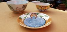 Vintage Japanese Chinese cup and saucer eggshell porcelain and a Bowl RARE