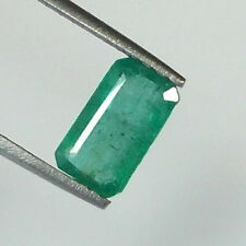2.53CT NATURAL UNHEATED UNTREATED ZAMBIAN EMERALD OCTAGON CUT TOP GREEN LUSTER
