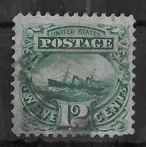 UNITED STATES 1869 Sc #117 Used 12 C Adriatic Green