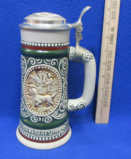 Avon Beer Stein Lidded At Point English Setter The Strike Rainbow Trout Vintage