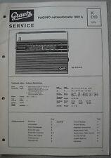 ITT/GRAETZ Pagino Netzautomatic 302 A Service Manual