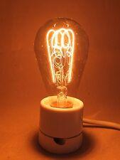 Antik Kohlefadenlampe RFT Glühbirne E 27 220 Volt Edison Form antique bulb I
