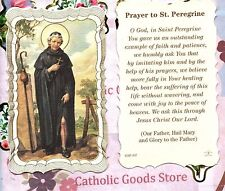 St. Peregrine with Prayer  - Scalloped trim - Paperstock Holy Card