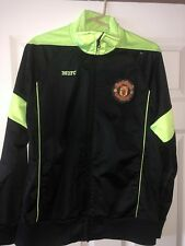 Manchester United Soccer Jacket MUFC Football NEONyellow track zipup polyester M