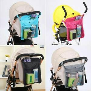 Baby Pushchair Pram Organiser Storage Bottle Holder Bag Stroller Buggy Diaper FB