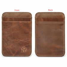 Slim Thin Mens Leather Wallet Money Clip Credit Card ID Holder Front Pocket NEW