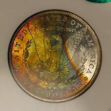1881-S Morgan Silver Dollar *NGC MS65 Star CAC* Vibrant Rainbow Toning
