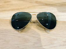 Vintage Ray Ban Aviators B&L Sunglasses Bausch&Lomb USA 62[]14 Gold G15 Used