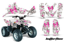 AMR Racing Polaris Predator 90 Graphic Kit Wrap Quad Decal ATV 03-07 BFLY PINK W