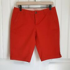 The North Face Women's Junewood Cotton Red Bermuda Shorts Size 4