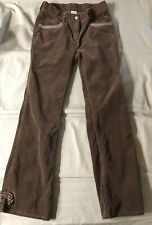 Gymboree Girls Size 12 Corduroy Bootcut Flare Pants With Bows EUC