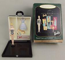 1999 Barbie Hallmark Ornament Black Travel Case Suburban Shopper MIB Swimsuit