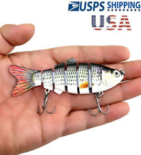 """Jointed Minnow Fishing Lures Crank Bait Hooks Bass Tackle Sinking Popper 3"""" EN"""