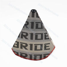 Bride Gradation JDM Racing Hyper Fabric Shift Boot Red Stitches Shift Knob Cover