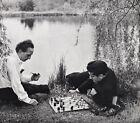 1957 MARCEL DUCHAMP & LARRY EVANS Chess Game By PHILIPPE HALSMAN Photo Art 16x20