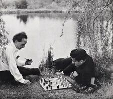 1957 Vintage MARCEL DUCHAMP LARRY EVANS Chess Photo Art 16x20 ~ PHILIPPE HALSMAN