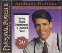 Anthony Robbins Personal Power II Volume 6 Beyond Procrastination Sealed CD Set