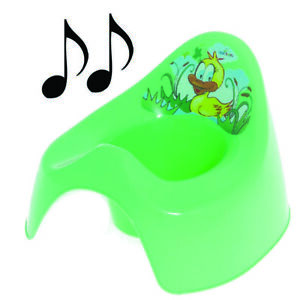Easy Clean Toilet Potty Training Baby Kids Toddler Colourful Animal Duck (Green)