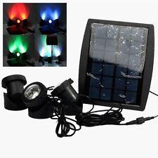 Solar Power 18led Underwater Spotlight Light Good for Garden Swimming Fish Pool RGB