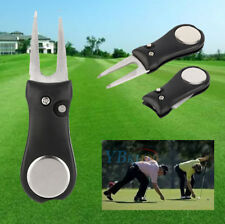 Pitch Repair Divot Switchblade Tool Golf Ball Marker Mark Kit Groove Cleaner JA