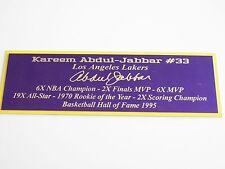Kareem Abdul-Jabbar Nameplate Los Angeles Lakers Autograph Photo Ball Jersey