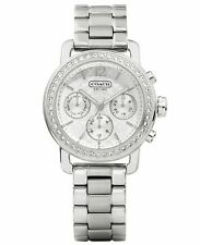 Coach Ladies Legacy Sport Silver Chronograph Watch
