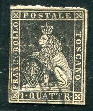 ITALIEN ALT TOSCANA 1857 10 gestempelt guter WERT 850€(Z3200