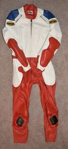 """Vintage Bates Leathers 1-Piece Motorcycle Suit XL 46"""" chest 38"""" waist"""